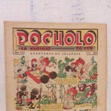 Tebeos: POCHOLO Nº 224 - 12 FEBREO 1936 - HOJAS SIN ABRIR, MUY NUEVO. Lote 209620861