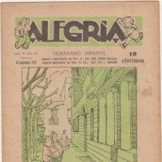 Tebeos: ALEGRÍA Nº 88. BARCELONA 1925. SIN ABRIR. Lote 210959036
