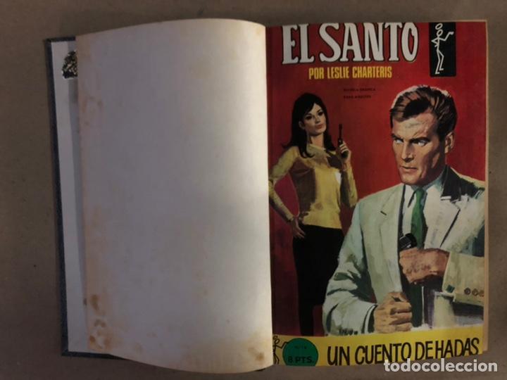 Tebeos: EL SANTO (SEMIC EDICIONES 1966). TOMO CON 10 TEBEOS ENCUADERNADOS EN TAPA DURA. - Foto 3 - 210970141