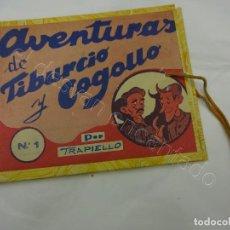 Tebeos: AVENTURAS DE TIBURCIO Y COGOLLO. IMPRENTA CATÓLICA. COMPLETA 5 TEBEOS EN CARPETA. Lote 212109828