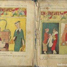 Tebeos: 2 PATUFETS DE L'ANY 1934: Nº 1572 I 1604 - PORTADA DE JUNCEDA. Lote 212515780