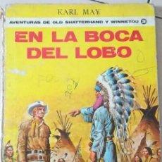 Tebeos: LIBRO-COMIC 1907: KARL MAY, EN LA BOCA DEL LOBO. AVENTURAS DE OLD SCHATTERHAND Y WINNETOU. VOL. 3.. Lote 212715191