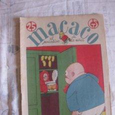 Tebeos: MACACO Nº 52. 27 ENERO 1929. CARNAVAL 1929 DISFRACES DE MACACO. EN IMPECABLE ESTADO DE CONSERVACION.. Lote 212860731