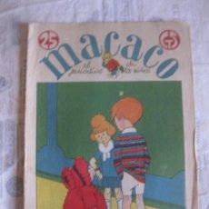 Tebeos: MACACO Nº 51. 27 ENERO 1929. CON RECORTABLE EJERCITO ESPAÑOL.. EN IMPECABLE ESTADO DE CONSERVACION.. Lote 212860860