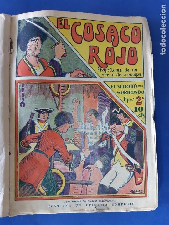 """Tebeos: EL COSACO ROJO -EDITORIAL """" EL GATO NEGRO""""-COMPLETA-24 NUMEROS- 1910-MUY DIFICIL-PORTADAS DE DONAZ - Foto 3 - 213808722"""