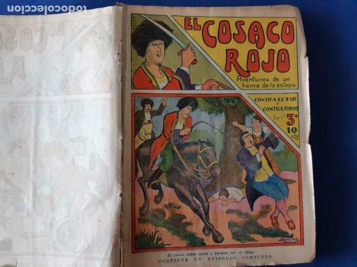 """Tebeos: EL COSACO ROJO -EDITORIAL """" EL GATO NEGRO""""-COMPLETA-24 NUMEROS- 1910-MUY DIFICIL-PORTADAS DE DONAZ - Foto 5 - 213808722"""