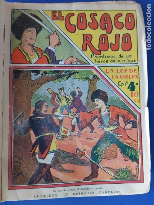 """Tebeos: EL COSACO ROJO -EDITORIAL """" EL GATO NEGRO""""-COMPLETA-24 NUMEROS- 1910-MUY DIFICIL-PORTADAS DE DONAZ - Foto 6 - 213808722"""