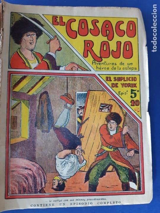 """Tebeos: EL COSACO ROJO -EDITORIAL """" EL GATO NEGRO""""-COMPLETA-24 NUMEROS- 1910-MUY DIFICIL-PORTADAS DE DONAZ - Foto 7 - 213808722"""