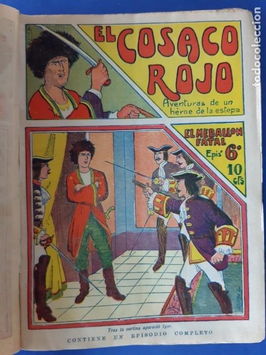 """Tebeos: EL COSACO ROJO -EDITORIAL """" EL GATO NEGRO""""-COMPLETA-24 NUMEROS- 1910-MUY DIFICIL-PORTADAS DE DONAZ - Foto 8 - 213808722"""