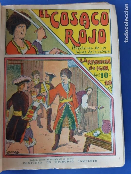 """Tebeos: EL COSACO ROJO -EDITORIAL """" EL GATO NEGRO""""-COMPLETA-24 NUMEROS- 1910-MUY DIFICIL-PORTADAS DE DONAZ - Foto 12 - 213808722"""