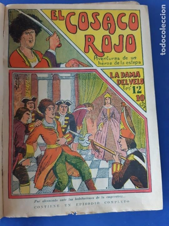 """Tebeos: EL COSACO ROJO -EDITORIAL """" EL GATO NEGRO""""-COMPLETA-24 NUMEROS- 1910-MUY DIFICIL-PORTADAS DE DONAZ - Foto 13 - 213808722"""