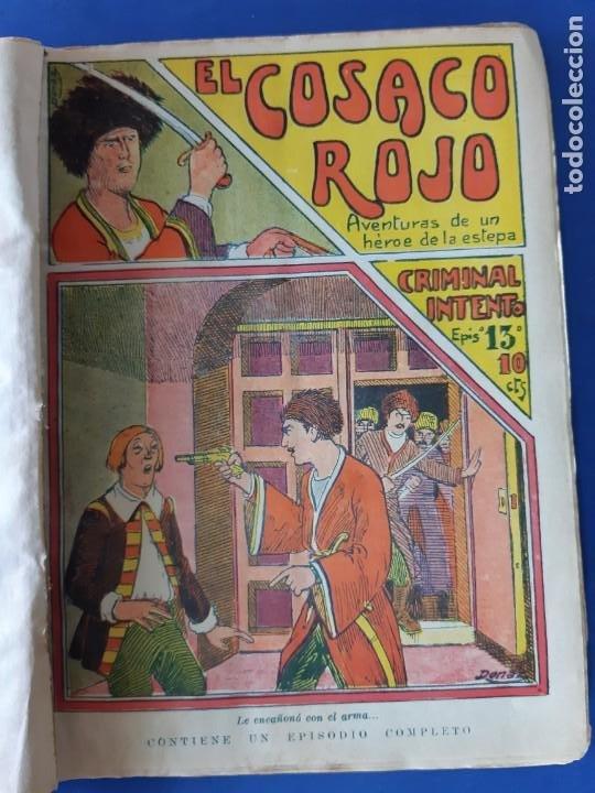 """Tebeos: EL COSACO ROJO -EDITORIAL """" EL GATO NEGRO""""-COMPLETA-24 NUMEROS- 1910-MUY DIFICIL-PORTADAS DE DONAZ - Foto 15 - 213808722"""