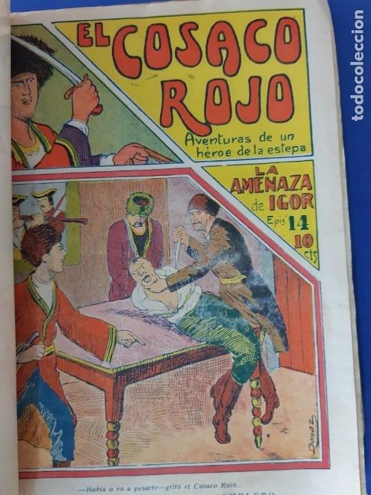 """Tebeos: EL COSACO ROJO -EDITORIAL """" EL GATO NEGRO""""-COMPLETA-24 NUMEROS- 1910-MUY DIFICIL-PORTADAS DE DONAZ - Foto 16 - 213808722"""