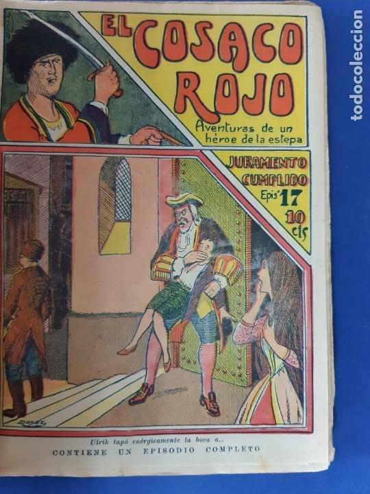 """Tebeos: EL COSACO ROJO -EDITORIAL """" EL GATO NEGRO""""-COMPLETA-24 NUMEROS- 1910-MUY DIFICIL-PORTADAS DE DONAZ - Foto 19 - 213808722"""