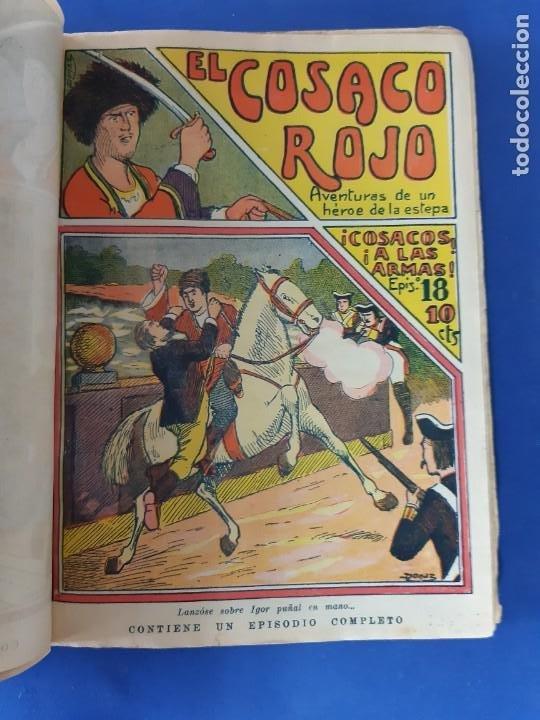 """Tebeos: EL COSACO ROJO -EDITORIAL """" EL GATO NEGRO""""-COMPLETA-24 NUMEROS- 1910-MUY DIFICIL-PORTADAS DE DONAZ - Foto 20 - 213808722"""