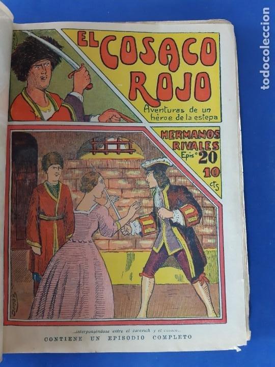 """Tebeos: EL COSACO ROJO -EDITORIAL """" EL GATO NEGRO""""-COMPLETA-24 NUMEROS- 1910-MUY DIFICIL-PORTADAS DE DONAZ - Foto 22 - 213808722"""