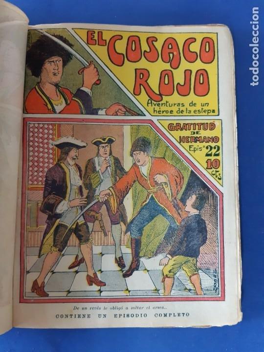 """Tebeos: EL COSACO ROJO -EDITORIAL """" EL GATO NEGRO""""-COMPLETA-24 NUMEROS- 1910-MUY DIFICIL-PORTADAS DE DONAZ - Foto 24 - 213808722"""