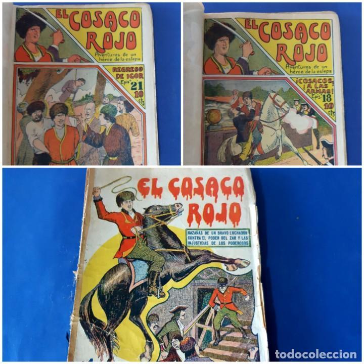 """EL COSACO ROJO -EDITORIAL """" EL GATO NEGRO""""-COMPLETA-24 NUMEROS- 1910-MUY DIFICIL-PORTADAS DE DONAZ (Tebeos y Comics - Tebeos Clásicos (Hasta 1.939))"""