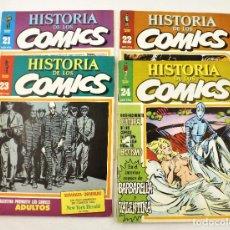Tebeos: HISTORIA DE LOS COMICS FASCICULOS 21,22,23 Y 24 TOUTAIN EDITOR. Lote 215347593