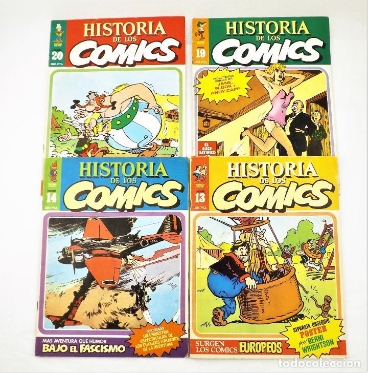 Tebeos: Historia de los comics fasciculos 13,14, 19 y 20 Toutain Editor - Foto 2 - 215347772