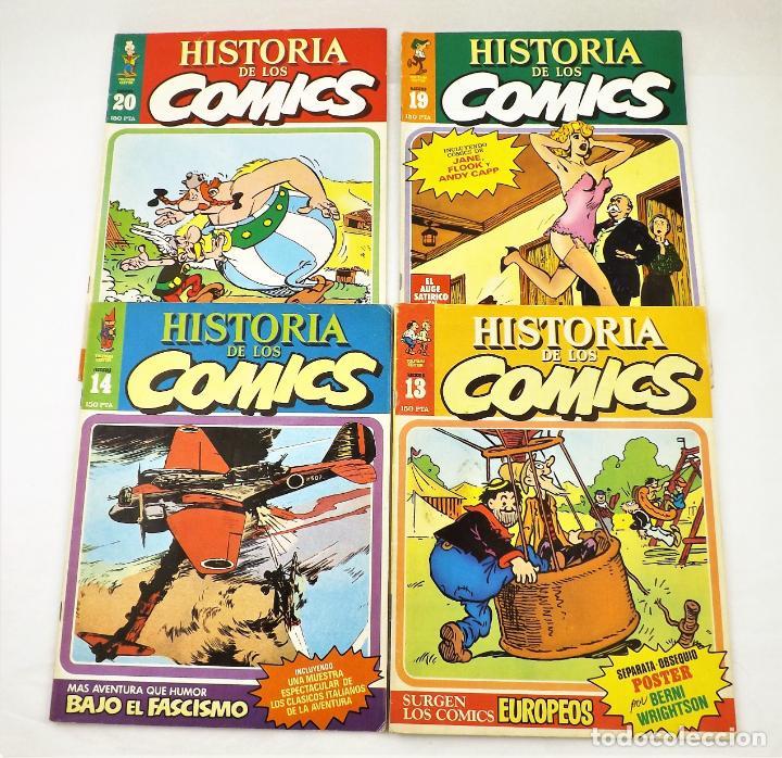 HISTORIA DE LOS COMICS FASCICULOS 13,14, 19 Y 20 TOUTAIN EDITOR (Tebeos y Comics - Tebeos Otras Editoriales Clásicas)