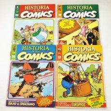 Tebeos: HISTORIA DE LOS COMICS FASCICULOS 13,14, 19 Y 20 TOUTAIN EDITOR. Lote 215347772