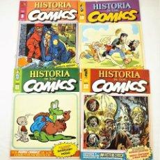 Tebeos: HISTORIA DE LOS COMICS FASCICULOS 9,10, 11 Y 12 TOUTAIN EDITOR. Lote 215347807