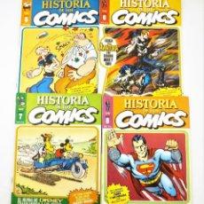 Tebeos: HISTORIA DE LOS COMICS FASCICULOS 5,6,7 Y 8 TOUTAIN EDITOR. Lote 215347868