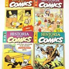 Tebeos: HISTORIA DE LOS COMICS FASCICULOS 1,2,3 Y 4 TOUTAIN EDITOR. Lote 215347906