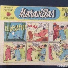Tebeos: TEBEO COMIC MARAVILLAS BIBLIOTECA FLECHAS Y PELAYOS Nº 225. 30 DE DICIEMBRE DE 1943. 20 CTS. Lote 216591815