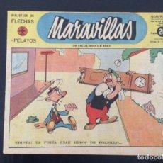 Tebeos: TEBEO COMIC MARAVILLAS BIBLIOTECA FLECHAS Y PELAYOS Nº 251. 29 DE JUNIO DE 1944. 20 CTS. Lote 216592447
