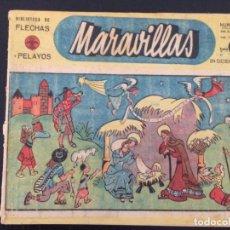 Tebeos: TEBEO COMIC MARAVILLAS BIBLIOTECA FLECHAS Y PELAYOS Nº 172. 24 DE DICIEMBRE DE 1942. 20 CTS. Lote 216593186