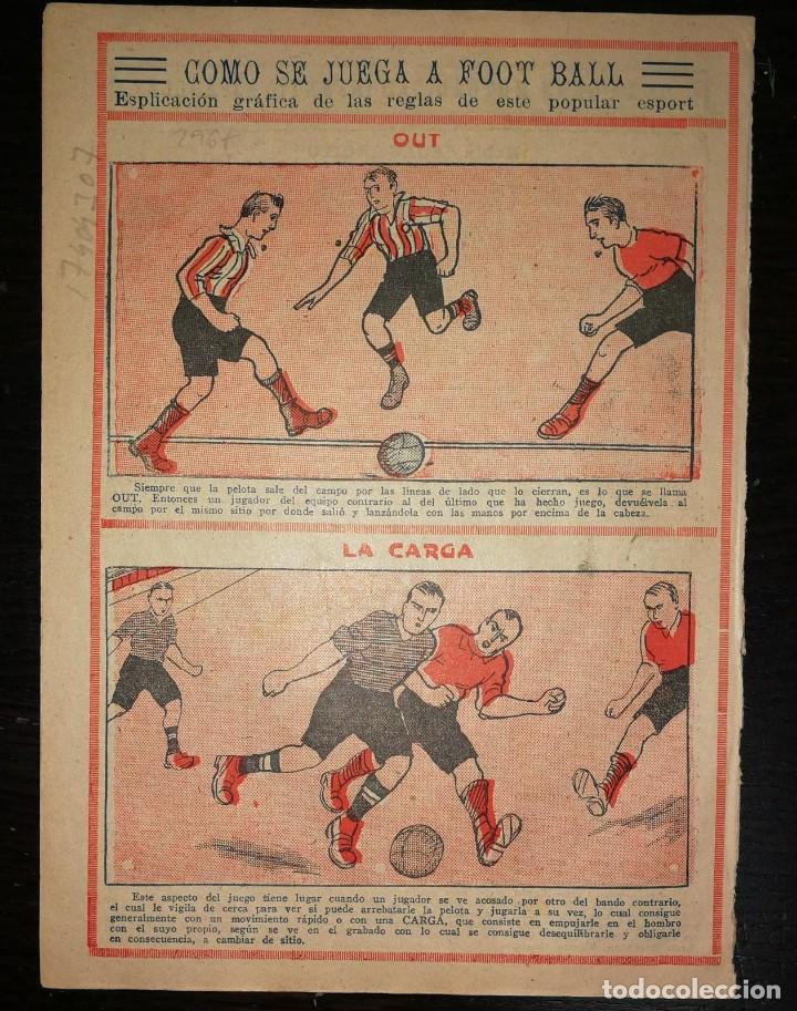 Tebeos: Pulgarcito nº 122. Gato Negro 1921.En contraportada como se juega a Foot Ball. - Foto 2 - 17404307