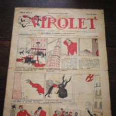 Tebeos: VIROLET- SUPLEMENT IL.LUSTRAT D'EN PATUFET, ANY I, N°15, 1922.. Lote 218000175