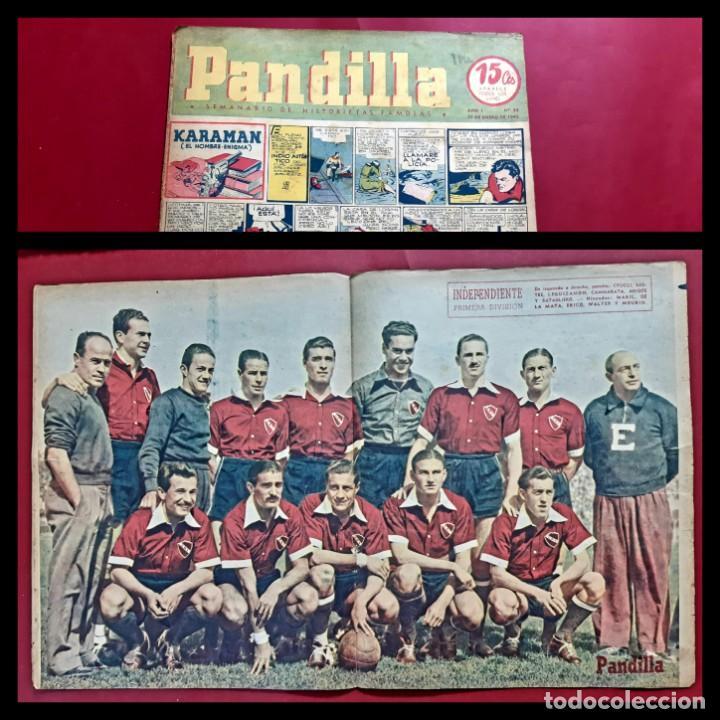 SEMANARIO DE HISTORIETAS FAMOSAS PANDILLA. Nº 30 -1945. POSTER INDEPENDIENTES (Tebeos y Comics - Tebeos Otras Editoriales Clásicas)