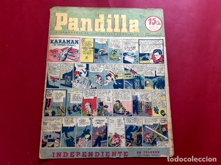 Tebeos: SEMANARIO DE HISTORIETAS FAMOSAS PANDILLA. Nº 30 -1945. POSTER INDEPENDIENTES - Foto 2 - 218012632