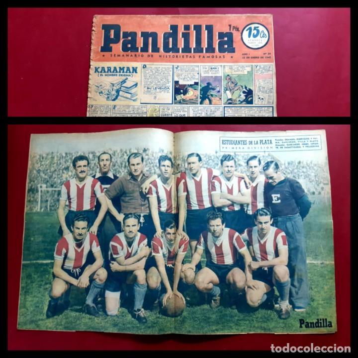 HISTORIETAS FAMOSAS PANDILLA. Nº 29 .-1945. POSTER ESTUDIANTES DE LA PLATA (Tebeos y Comics - Tebeos Otras Editoriales Clásicas)