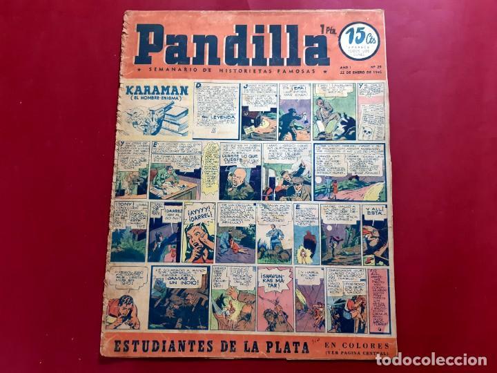 Tebeos: HISTORIETAS FAMOSAS PANDILLA. Nº 29 .-1945. POSTER ESTUDIANTES DE LA PLATA - Foto 2 - 218012923