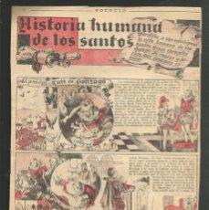 Tebeos: HISTORIA DE ESPAÑA - HISTORIA HUMANA DE LOS SANTOS - RECORTE DE LA REVISTA INFANTIL POCHOLO. Lote 218246752