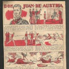 Tebeos: HISTORIA DE ESPAÑA - DON JUAN DE AUSTRIA - RECORTE DE LA REVISTA INFANTIL POCHOLO. Lote 218246968