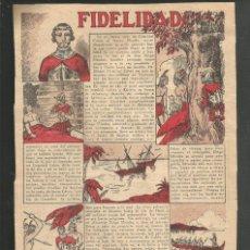 Tebeos: HISTORIA DE ESPAÑA - FIDELIDAD - RECORTE DE LA REVISTA INFANTIL POCHOLO. Lote 218247052