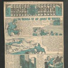 Tebeos: HISTORIA DE ESPAÑA - LA BATALLA DE LAS NAVAS DE TOLOSA - RECORTE REVISTA INFANTIL POCHOLO. Lote 218261032