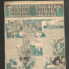 Tebeos: HISTORIA DE ESPAÑA - RASGO HUMANITARIO DE ESCIPION - RECORTE REVISTA INFANTIL POCHOLO. Lote 218261076