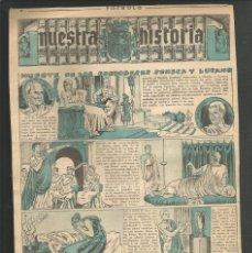 Tebeos: HISTORIA DE ESPAÑA - MUERTE DE LOS CORDOBESES SENECA Y LUCAMO - RECORTE REVISTA INFANTIL POCHOLO. Lote 218261257