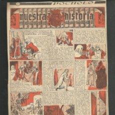 Tebeos: HISTORIA DE ESPAÑA - COMO ENTRO GONZALEZ DE CORDOBA EN GRANADA - RECORTE REVISTA POCHOLO. Lote 218263401