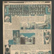 Tebeos: HISTORIA DE ESPAÑA - EL SUSPIRO DEL MORO - RECORTE REVISTA INFANTIL POCHOLO. Lote 218263432
