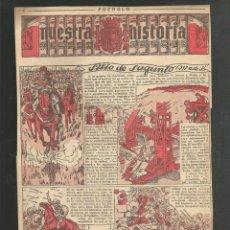 Tebeos: HISTORIA DE ESPAÑA - SITIO DE SAGUNTO - RECORTE REVISTA INFANTIL POCHOLO. Lote 218263508