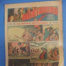 Tebeos: AVENTURERO Nº 60 HISPANO AMERICANA AÑO 1936. Lote 218385852
