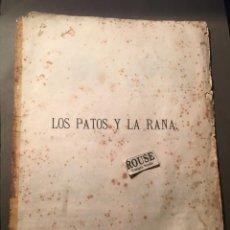 Tebeos: G. BUSCH PIONERO DEL COMIC - HISTORIETAS ILUSTRADAS 1881 LOS PATOS Y LA RANA. Lote 218491157
