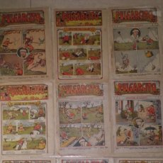 Livros de Banda Desenhada: RARO LOTE DE TEBEOS PULGARCITO, PRIMERA EPOCA, GATO NEGRO, 1.923-1.924. Lote 219386343